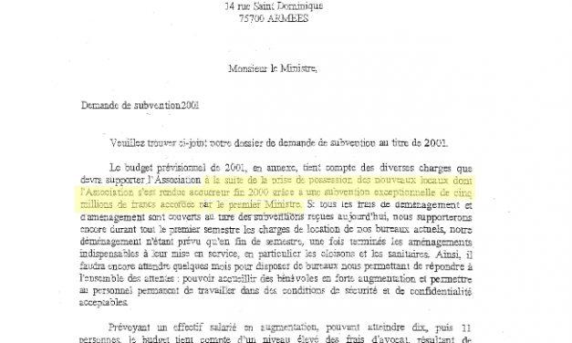L'opération d'acquisition des nouveaux locaux de l'Unadfi en 2001 ne semble pas offrir toute la transparence que l'on attend d'une transaction financée intégralement par l'argent du contribuable.