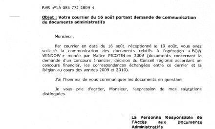 Info-sectes Aquitaine reclus de Montflanquin  » BOW WINDOW » Financement Region Aquitaine