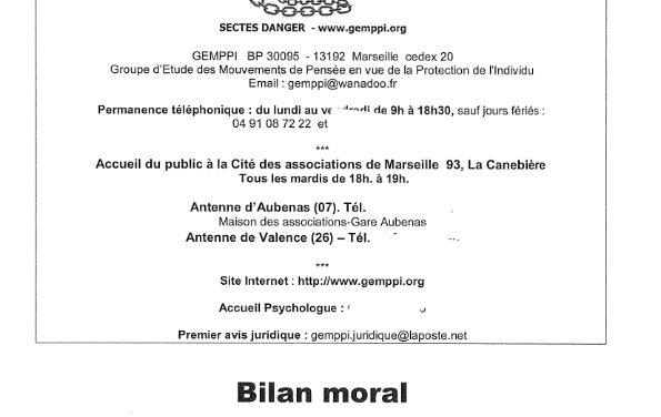 Bilan moral et rapport d'activités GEMPPI