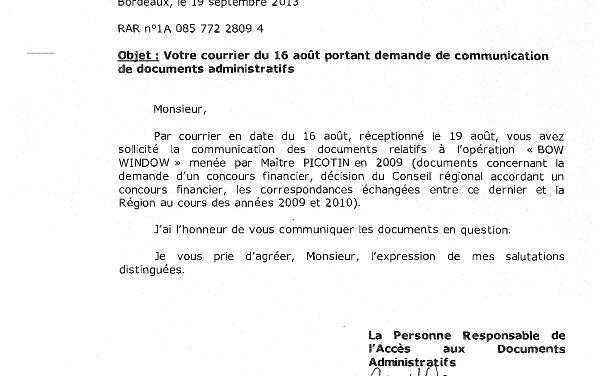 Info-sectes Aquitaine reclus de Montflanquin » BOW WINDOW» Financement Region Aquitaine