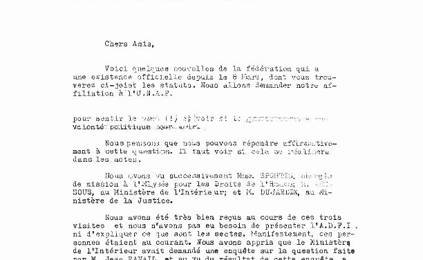 Deprogramming : la lettre confidentielle de l'UNADFI aux présidents des ADFI